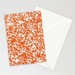 Small Spots - White and Dark Orange Stationery Cards