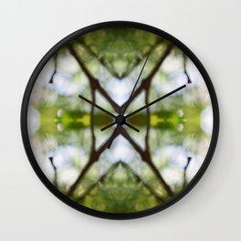 Nature Kaleidoscope # 4 Wall Clock