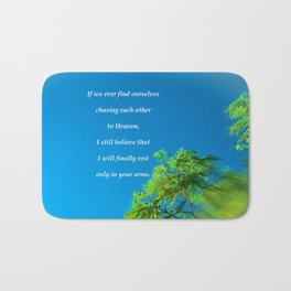 """Silk Tree Leaves #22"" Photo with poem: Heaven Bath Mat"