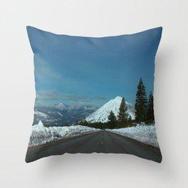 Black Butte Snow Cap. Throw Pillow