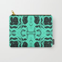 Floral turquoise pattern Carry-All Pouch