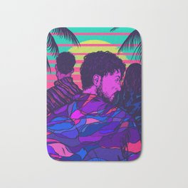 Synthwave Summer Bath Mat