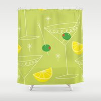 cocktail Shower Curtains featuring Cocktail by ViconiaMcAliens