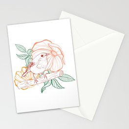 Bird & flower Stationery Cards