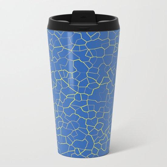 Crackle at the Poolside Metal Travel Mug