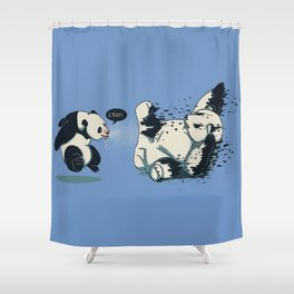 Panda Flu Shower Curtain