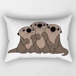 Baby Otters Rectangular Pillow