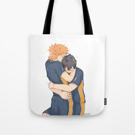 kagehina -tired but happy Tote Bag