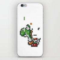 yoshi iPhone & iPod Skins featuring Yoshi Tetris by Tombst0ne