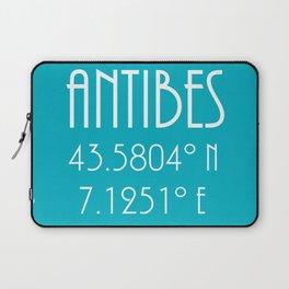 Antibes Latitude Longitude Laptop Sleeve