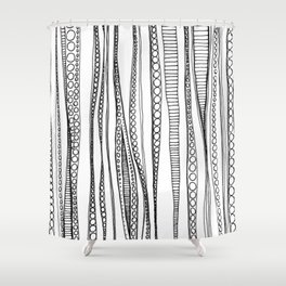 Rippled Water Graphic Pattern Shower Curtain