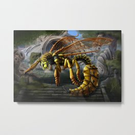 Dragon Wasp Metal Print