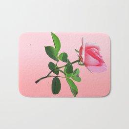 Pink Rose in Bloom Bath Mat