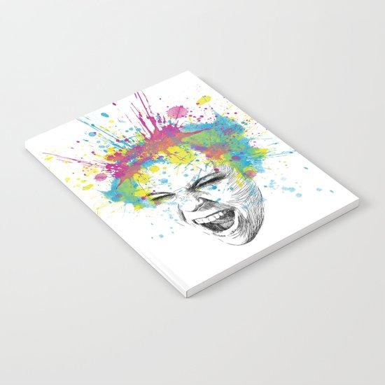 Crazy Colorful Scream Notebook