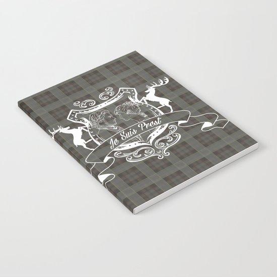Outlander plaid with Je Suis Prest crest Notebook