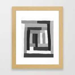 Painted Color Blocks Framed Art Print