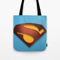 shield Tote Bags featuring shield by hobbs
