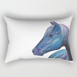 Blue Horse Rectangular Pillow