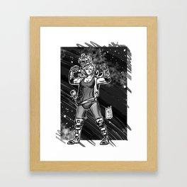 365 Space Wrestlers: Fight King Framed Art Print
