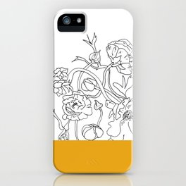 VESSEL - Floral Ink in Mustard - Cooper and Colleen iPhone Case
