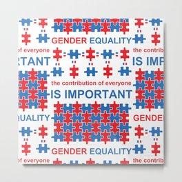 Gender Equality_02 by Victoria Deregus Metal Print