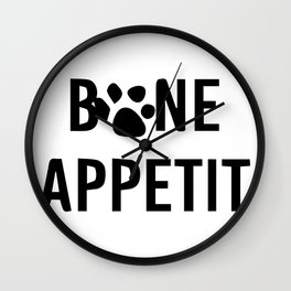 bon appéti Sign, Dog Art, Bone Appetite Sign, Pet Wall Decor Printable, Cute Puppy Decorations, Fun Wall Clock