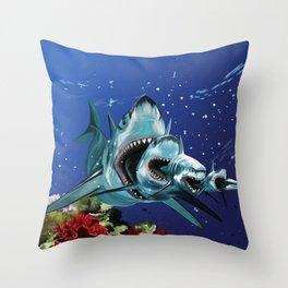 Sharkioska Throw Pillow