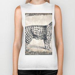 Leopard Sketch (Monochrome) Biker Tank