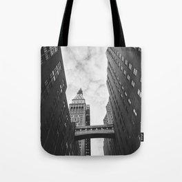 New York Clock Tower Tote Bag