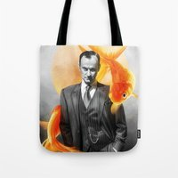goldfish Tote Bags featuring Goldfish by tillieke