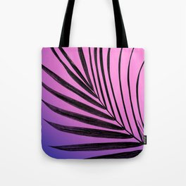 Simple palm leaves in purplish gradient Tote Bag