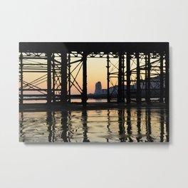 Hastings pier afterglow Metal Print