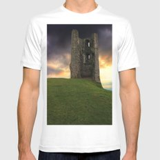 Sunset at Hadleigh Castle Mens Fitted Tee MEDIUM White
