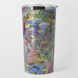 Colorful Flying Cats Travel Mug