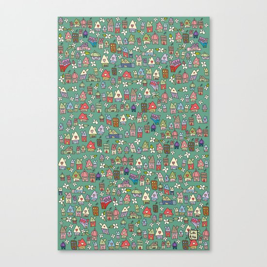 Houses - eco Canvas Print