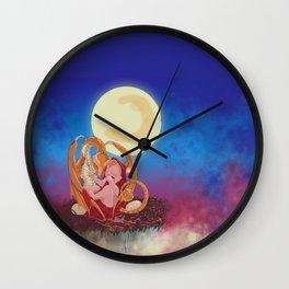 Dragon lullabye in red Wall Clock