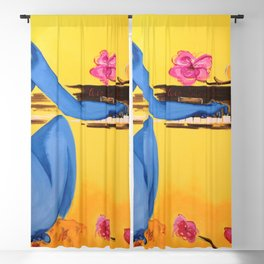 A Dream, A Piano, & Cherry Blossoms musical portrait painting by by Ana Inigo Olea Blackout Curtain