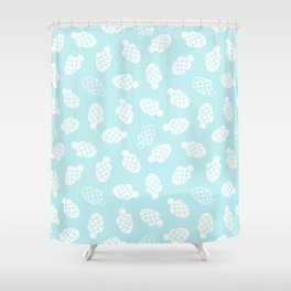 Cute white fishes Shower Curtain
