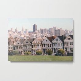 The Painted Ladies Metal Print