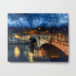 Rome, romantic nights Metal Print