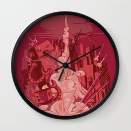 Smash! Zap!! Zoom!!! Wall Clock