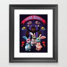 Lucha Rabbit Framed Art Print