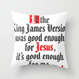 King James Version Throw Pillow