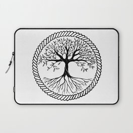black and white tree of life Laptop Sleeve