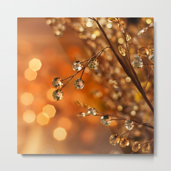 Sparkles in Gold Metal Print