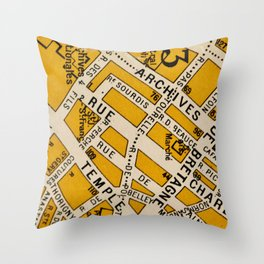 All About Paris II Throw Pillow