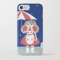 puppycat iPhone & iPod Cases featuring Bee and Puppycat in the Rain by Paul Scott (Dracula is Still a Threat)
