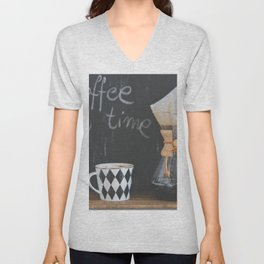 Coffee Time! Photo of coffee and mug Unisex V-Neck