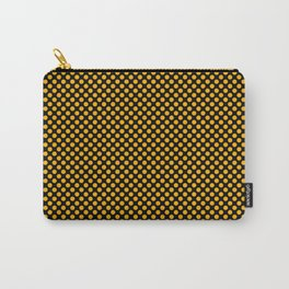 Black and Gold Fusion Polka Dots Carry-All Pouch