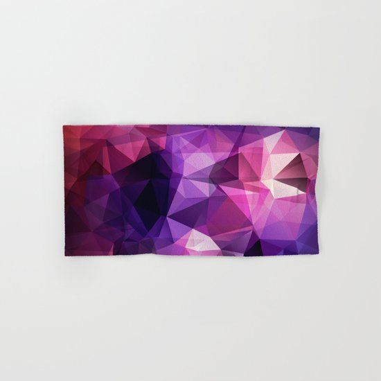 Abstract background of triangles polygon design bright colors Hand & Bath Towel